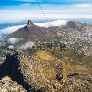 Table Mountain cable car in Cape Town, South Africa.