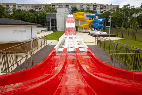 Water slides red