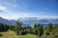 Swiss Alps landscape up in Rigi Kaltbad