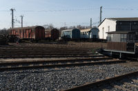 Locomotive shed and turntable