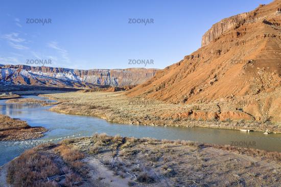 Colorado River in Utah aerial view