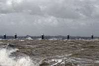 Storm depression Xavier on the Rysumer neck in East Frisia