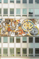 socialist realism mural at house of the teacher, hdl, haus des lehrers