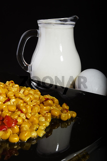 Corn and milk