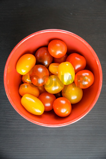 Cocktail tomatoes in a bowl
