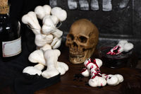 Creepy Meringue Bones, sweet treats for Halloween