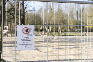 fenced and closed palyground
