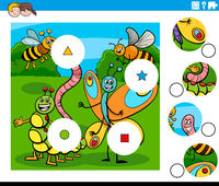 match pieces task with insects characters