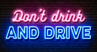 Neon sign on a brick wall - Dont drink and drive