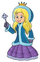 Princess in winter clothes theme image 1