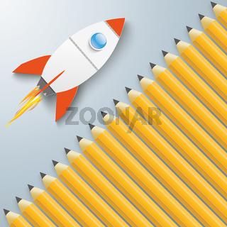 Pencils Cover Rocket PiAd