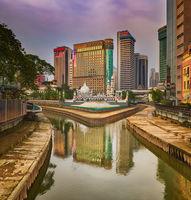 Kuala Lumpur cityscape at sunset, Malaysia.
