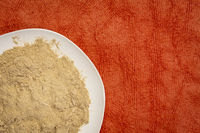 maca root powder on a plate