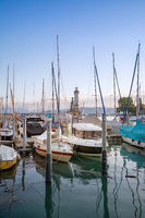 Moored yachts on Bodensee