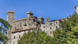 The Rocca Monaldeschi della Cervara castle in Bolsena on Lake Bolsena in the Viterbo region of Lazio