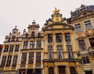 The Grand Place square in Brussels, the capital of Belgium, famous historical landmark