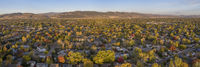 Fort Collins and Front Range aerial view
