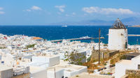 View of Mykonos town with The Old Port