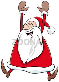 cartoon happy Santa Claus character on Christmas time