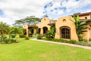 Panama Boquete facade of Mexican style villa
