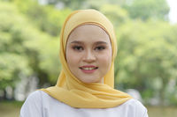Cheerful Muslim girl