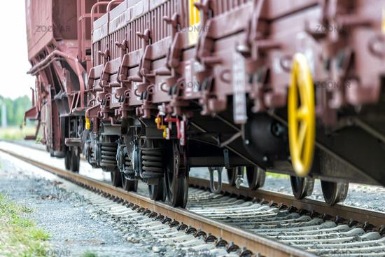 freight train at a shunt yard
