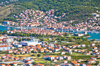 Trogir riviera. Town of Trogir view from the hill