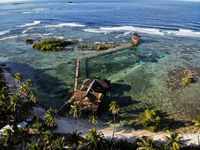 Cloud 9 Pier, Siargao, The Philippines - Aerial Photograph