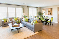 Beautiful Open Concept Interior Living Room of House