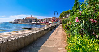 Town of Umag waterfront and coastline panoramic view
