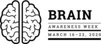 Brain Awareness Week 2020. Vector illustration on white