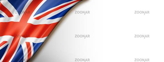British flag isolated on white banner