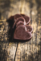 Sweet chocolate hearts.