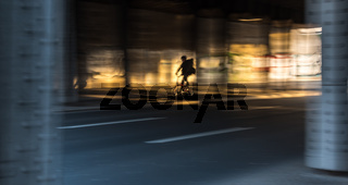Quickly through the light on my bike
