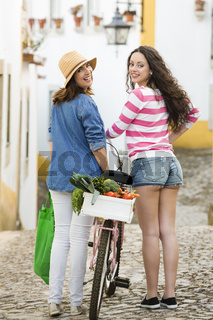 Female tourists