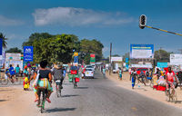 On the streets of Mangochi in Malawi