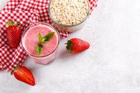 Strawberry milkshake or smoothie