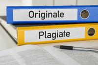 Folders with the label Original and Plagiarism - Originale und Plagiate (German)