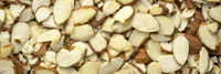raw sliced almond background