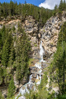 Waterfall in Vanoise national Park, French alps