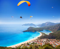 aerial view of Blue Lagoon in Oludeniz