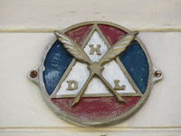 Masonic symbol on old Cuban building in Trinidad, Cuba.