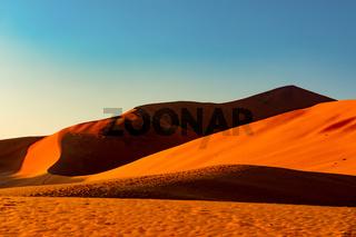 arid dry landscape Hidden Vlei in Namibia Africa