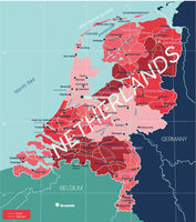 Netherlands country detailed editable map