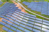 solar power on hillside