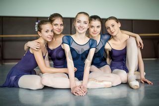 five ballerinas