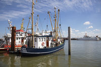 Fishing boats at the harbor of Norddeich