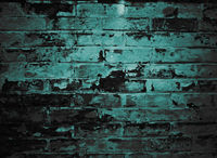 brick wall in tidewater green color