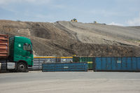 Mountains of waste from waste incineration