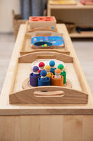 Montessori wood material for the learning of children
